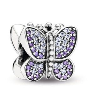 Pandora Purple Sparkling Butterfly Charm